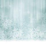 Abstraktes silbernes blaues Weihnachten, Winterhintergrund Lizenzfreies Stockfoto