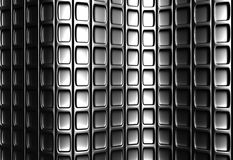 Abstraktes silbernes quadratisches Muster Stockfotografie