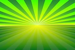 Abstraktes Sonnendurchbruchmuster, grüne und gelbe Strahlnfarben der Steigung Vector Abbildung, EPS10 Geometrisches Muster vektor abbildung