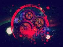 Abstraktes Soundspeaker mit Blumen Stockfotos