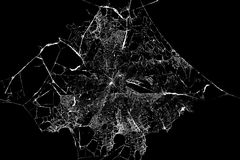 Abstraktes Spiderweb auf schwarzem Hintergrund lizenzfreies stockbild