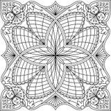Abstraktes Spitzedesign des schwarzen Quadrats in der Monolinie Art - MA lizenzfreie abbildung