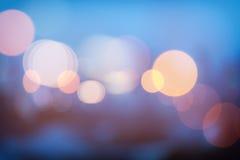 Abstraktes städtisches Nachtlicht bokeh, defocused Hintergrund Lizenzfreie Stockfotografie