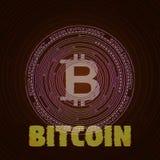 Abstraktes Störschub bitcoin stockfoto