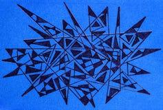 Abstraktes stacheliges geometrisches Design Stockfotografie