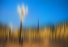 Abstraktes Stadtbild der Unschärfe Lizenzfreies Stockbild