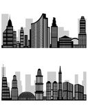 Abstraktes Stadtschattenbild stock abbildung