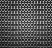 Abstraktes Stahl-oder Metallstrukturiertes Muster mit sechseckigen Zellen Stockfotografie