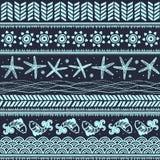 Abstraktes Stammes- Muster Stockfoto