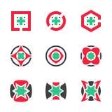Abstraktes Startgeschäfts-Symbol-globale Medienunternehmen-Innovations-Vektor-Ikone EPS10 Lizenzfreie Stockfotos