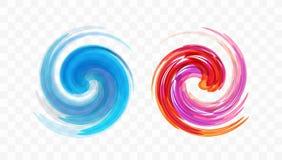 Abstraktes Strudel-Auslegung-Element Spirale, Rotation und wirbelnde Bewegung Vektorillustration mit dynamischem Effekt vektor abbildung