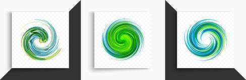 Abstraktes Strudel-Auslegung-Element Spirale, Rotation und wirbelnde Bewegung Vektorillustration mit dynamischem Effekt lizenzfreie abbildung