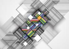 Abstraktes Strukturstromkreiscomputerwürfeltechnologie-Geschäfts-BAC Stockfoto