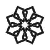 Abstraktes Symbol der Logoikone Vektorillustration lokalisiert auf dem Hintergrund Geometrisches Symbol der komplexen Struktur Sc stock abbildung