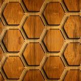 Abstraktes Täfelungsmuster - dekoratives sechseckiges Gitter stock abbildung