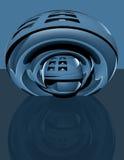 abstraktes techno 3d Blau Lizenzfreie Stockbilder