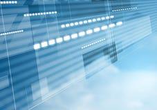Abstraktes Technologiebewegungsdesign mit cloudscape Stockfoto