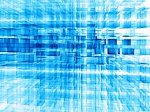 Abstraktes Technologiegitter - digital erzeugtes Bild Stockbild