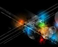 Abstraktes Technologiehintergrund Geschäft u. Entwicklungsrichtung Lizenzfreies Stockfoto