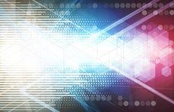 Abstraktes Technologiehintergrund Geschäft u. Entwicklungsrichtung Stockfotografie