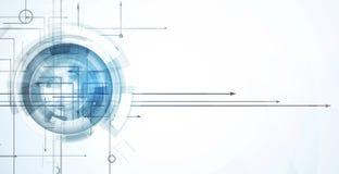 Abstraktes Technologiehintergrund Geschäft u. Entwicklungsrichtung Lizenzfreie Stockbilder