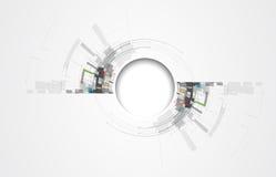 Abstraktes Technologiehintergrund Geschäft u. Entwicklungsrichtung Stockfoto