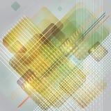 Abstraktes Technologiehintergrunddesign mit Rechtecken. Stockfoto