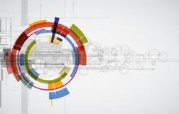 Abstraktes Technologiehintergrundgeschäft u. -entwicklung Stockfoto