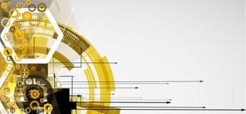 Abstraktes Technologiehintergrundgeschäft u. -entwicklung Stockbilder