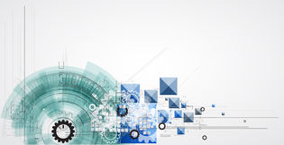 Abstraktes Technologiehintergrundgeschäft u. -entwicklung Lizenzfreie Stockfotografie