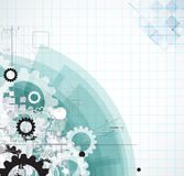 Abstraktes Technologiehintergrundgeschäft u. -entwicklung Lizenzfreies Stockbild