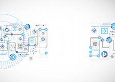 Abstraktes Technologiekonzept des Geschäftshintergrundes Lizenzfreie Stockbilder