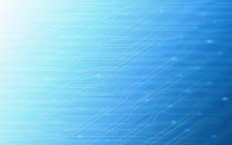 Abstraktes TechnologieLeiterplattemuster auf blauem Farbhintergrund Lizenzfreie Stockfotografie