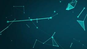 Abstraktes Technologienetz schließt Cybernetz und Datenverbindungen der Internet-Kommunikation oder -Social Media an stock footage