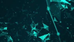 Abstraktes Technologienetz schließt an und der futuristischen Bewegung des Atomwissenschaftskonzepthintergrundes grafischer Hinte stock video footage