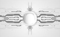 Abstraktes technologisches Hintergrundkonzept mit verschiedenem technolog vektor abbildung