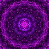 Abstraktes ultraviolettes Mandaladesign vektor abbildung
