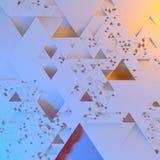 Abstraktes unregelmäßiges futuristisches Architekturmuster, Illustrationshintergrund der Dreiecke 3d stock abbildung