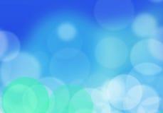 Abstraktes Unschärfehintergrundblau Bokeh-Effekte stockbild