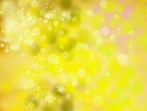 Abstraktes unscharfes Gelb des Hintergrundes Weiche Weihnachts Stockbild