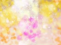 Abstraktes unscharfes Gelb des Hintergrundes Weiche Weihnachts Lizenzfreie Stockfotografie