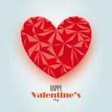 Abstraktes Valentinsgrußkarten-Vektordesign stock abbildung