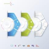 Abstraktes Vektordesign infographic Lizenzfreies Stockfoto