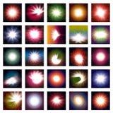 Abstraktes vektorglühen Stockfotografie