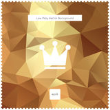 Abstraktes Vektorgoldpolygonaler Hintergrund Lizenzfreies Stockbild