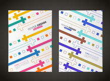 Abstraktes Vektorquadratdesign für Flieger Lizenzfreie Stockfotos