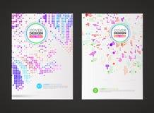 Abstraktes Vektortechnologie-Kreisdesign für Flieger Stockbilder