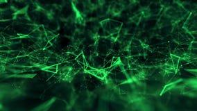 Abstraktes Verbindungsstrukturtechnologiewissenschafts-Hintergrundgrün vektor abbildung