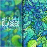 Abstraktes Verzierungshintergrundkonzept mit Gläsern Stockfotografie