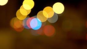 Abstraktes Video mit bokeh Effekt stock video